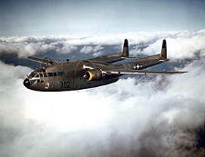 The Fairchild C119 Flying Boxcar was used to transport cargo and troops.