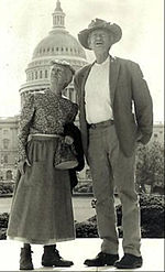 Picture of Jed Clampett (Buddy Ebsen) and Granny (Irene Ryan) from the Beverly Hillbillies