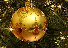 Image of a Christmas Tree Ornament.