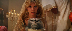 Image taken from Indiana Jones Movie with monkey brains served in the still attached skull of the monkey.